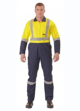 2 Tone Hi Vis Coverall with Reflective Tape