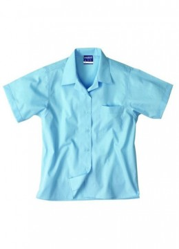 Girls S/S Open Neck Shirt