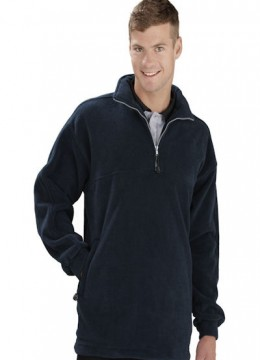 Heavy Weight 1/2 Zip Poly