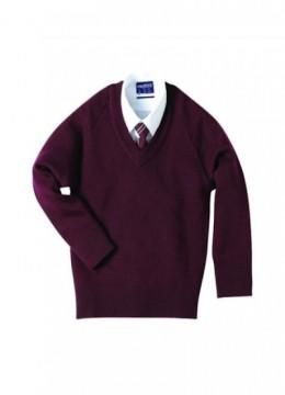 V-Neck Poly/Cotton Pullover