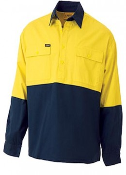 Closed Front Hi Vis Drill Shirt