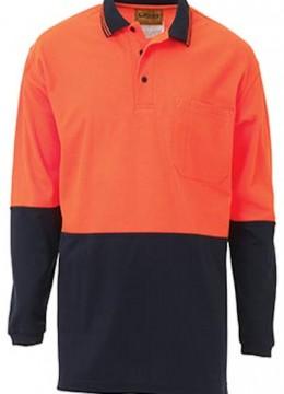 2 Tone Hi Vis Polo Shirt L/S