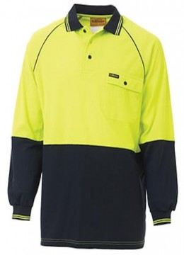 Lightweight Hi Vis Polo L/S